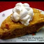 Gluten Free Pumpkin Pie with Streusel Topping