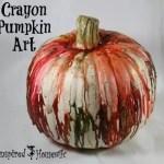 Crayon Pumpkin Art