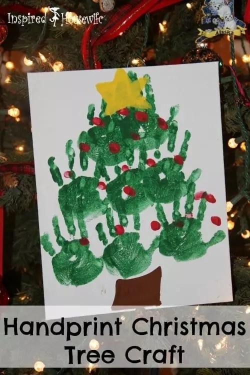 Handprint Christmas Tree Craft - #MerryBlogmas