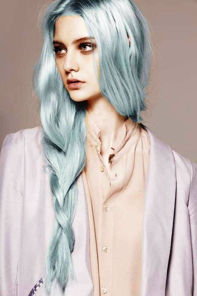 20 Grey Blue Hair Color Trend For Women