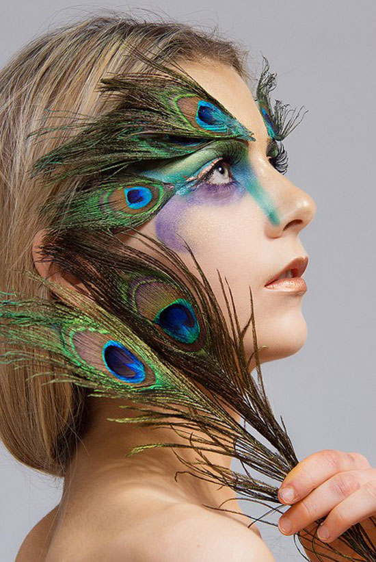 25 Pretty Peacock Halloween Makeup Ideas