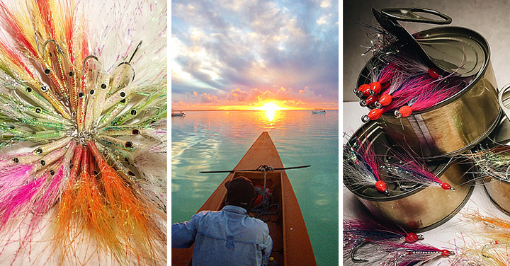 Dennis Gamboa flies and fishing triptych V1 :: Inspired Spaces