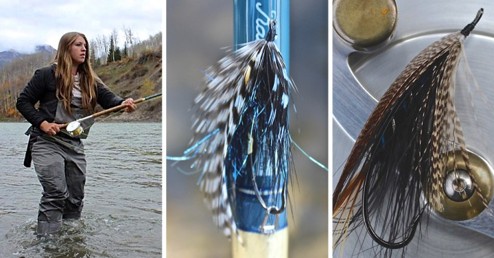 Kate Watson speycasting ~ Spey fly on rod ~ Spey fly on reel :: Inspired Spaces