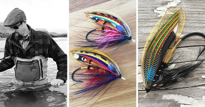 Will Bush with Bulkley River steelhead ~ Classic flies tied by Will Bush :: Inspired Spaces