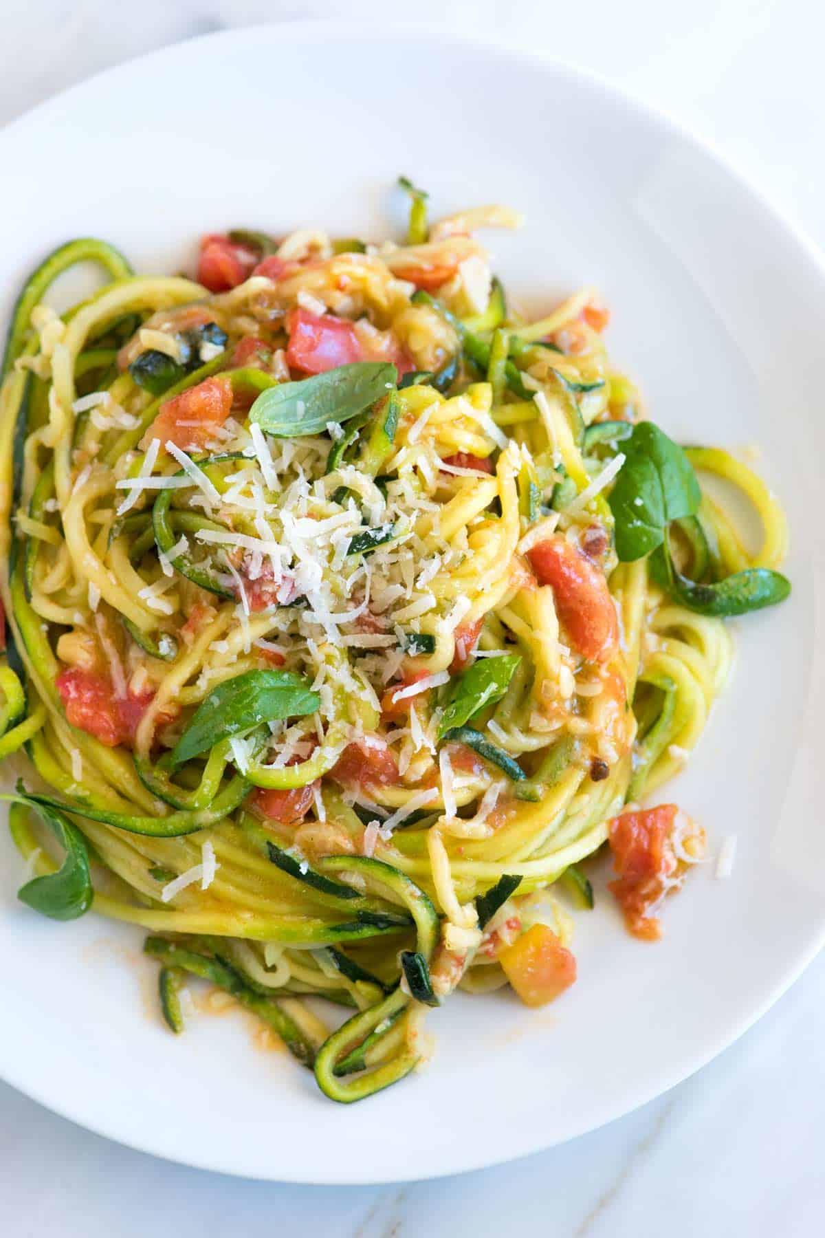 Garlic Parmesan Zucchini Pasta Recipe
