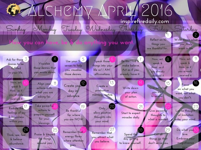 April IF Calender