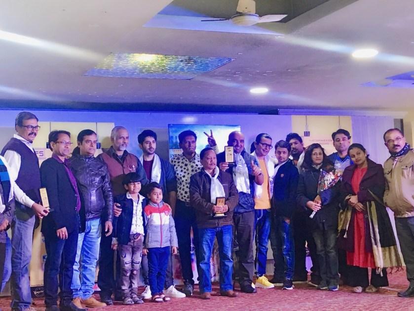 Award Winning Historic Director Kiran Khatiwada with the other Guests of Everest International Film Festival