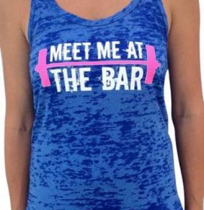 meet me at the bar women's crossfit tank