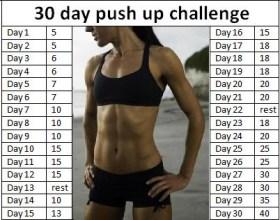 30 Day Push Up Challenge
