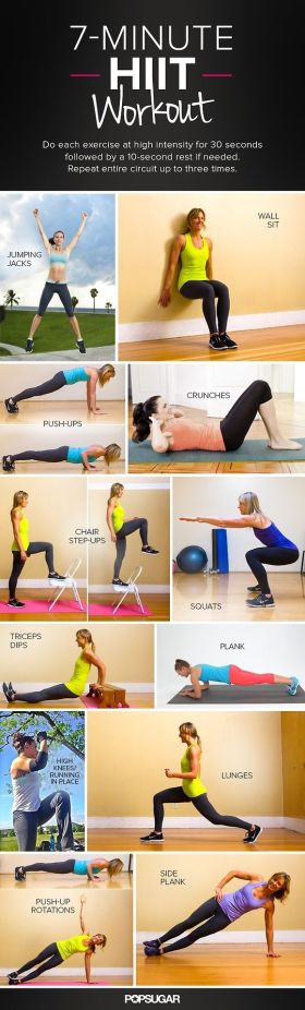 Seven minutes hit workout