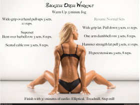 Back-less dress workout
