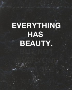 Seeing Your Beauty