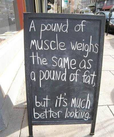 A pound of muscle looks better