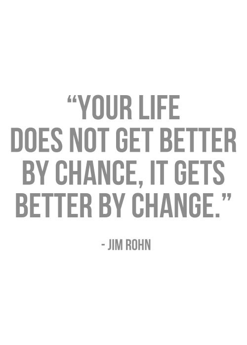 It gets better by change