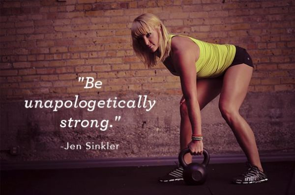 Be unapologetically strong