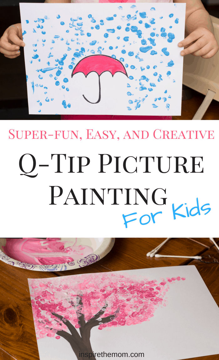Super-fun, Easy, and Creative q-tip picture painting for kids-2