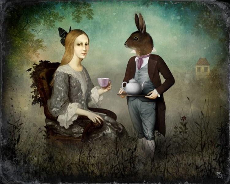 Christian Schloe crea arte surreale, digital paint estremamente romantica ma con una punta di deliziosa malinconia come dagherrotipi ritrovati in un cassetto