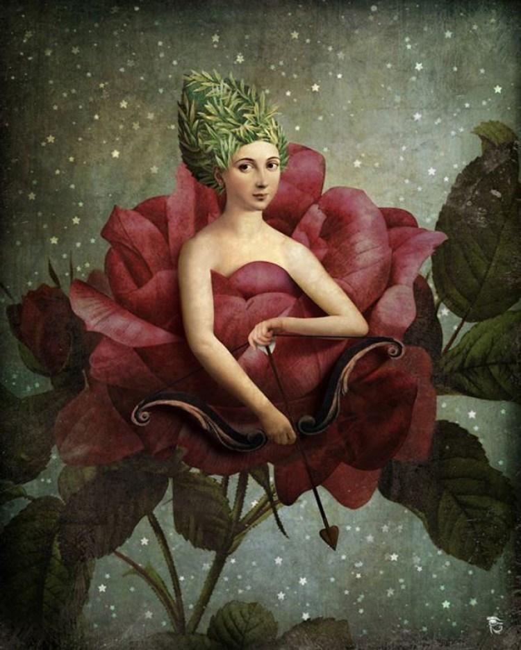 Christian Schloe crea arte surreale, digital paint estremamente romantica ma con una punta di deliziosa malinconia come dagherrotipi ritrovati in un cassetto.