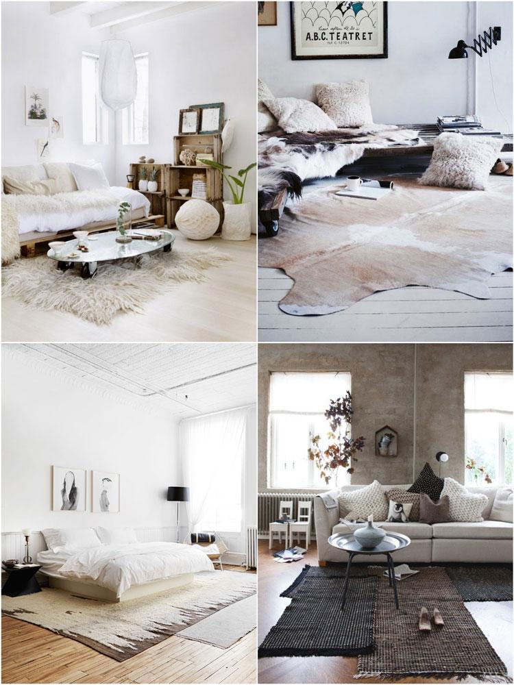 decorare gli interni con i tappeti