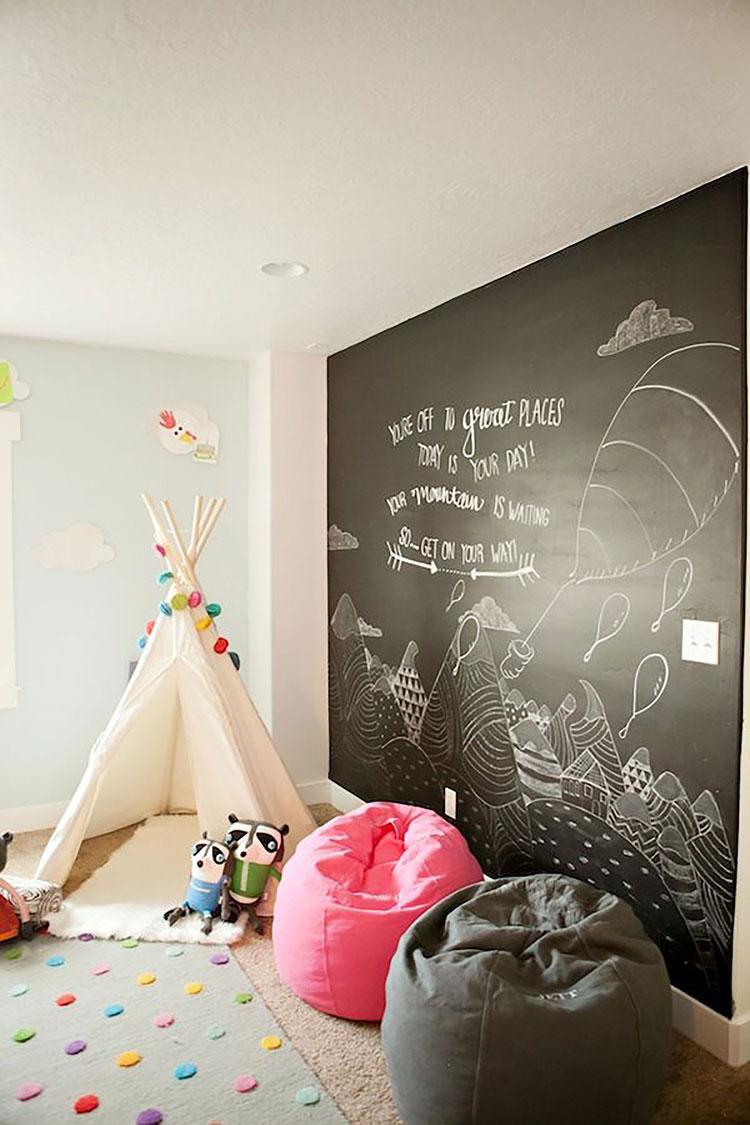 muro lavagna per decorare le pareti di casa
