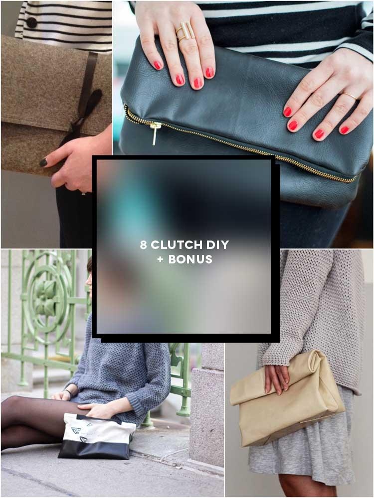 8 Progetti per creare una clutch bag fai da te