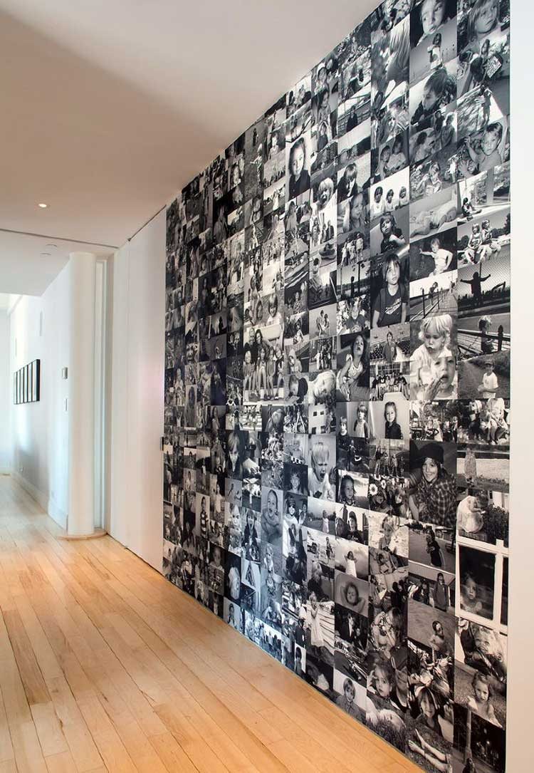 how to decorate the walls with photos only