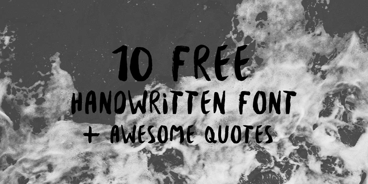 10 handwritten free font