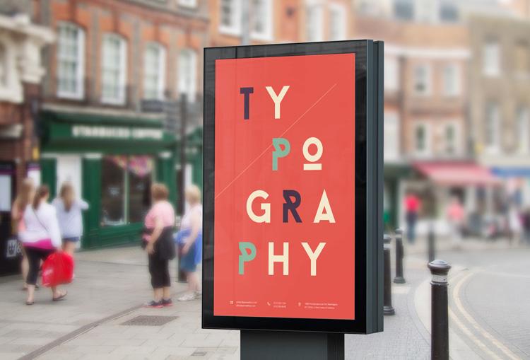Street Billboard - Poster mockup gratuiti