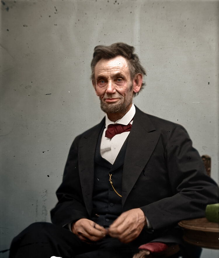Colorized History - Abraham Lincoln
