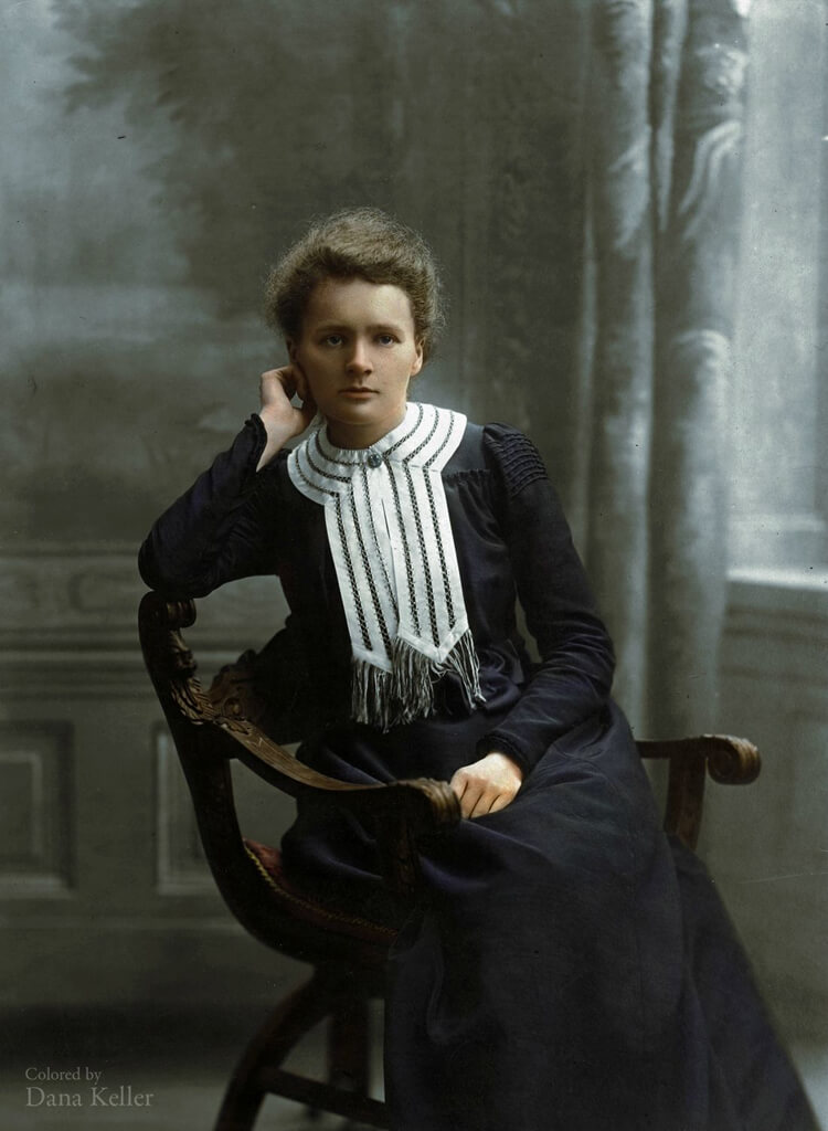 Colorized History - Marie Curie