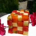 Kreative und lecker leichte Rohköstlichkeit: Der Fruchtwürfel