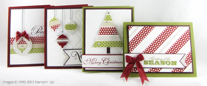 Free Tutorial Wonderful Washi Christmas Cards Inspiring