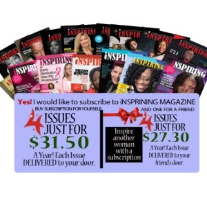 Inspiring Magazine 2019 Annual Subscription (You & A Friend)