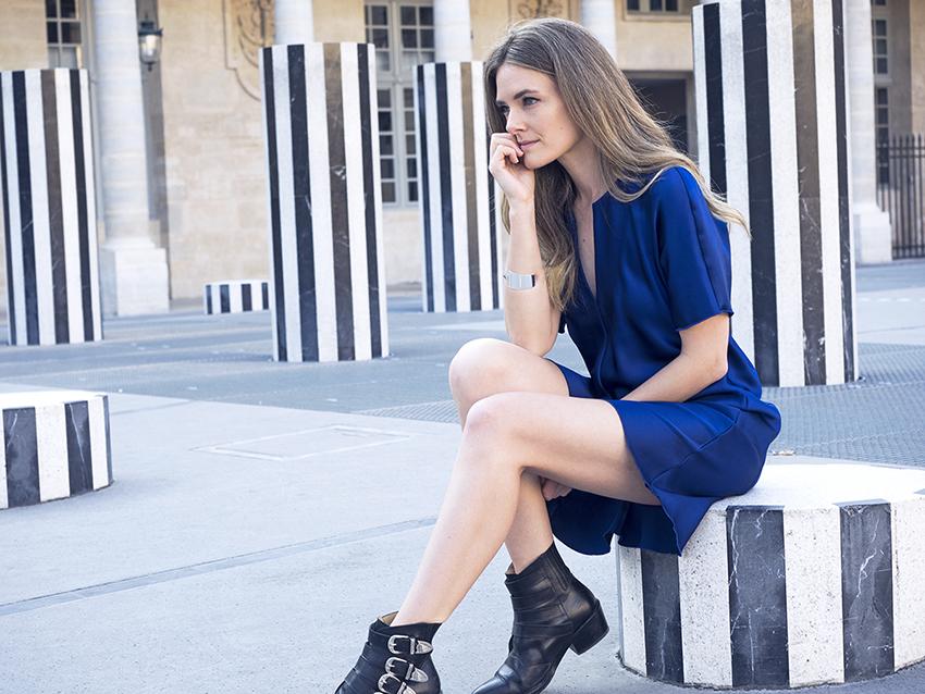 Ellery dress, Najo bangle Inspiring Wit in Paris at the Palais Royale