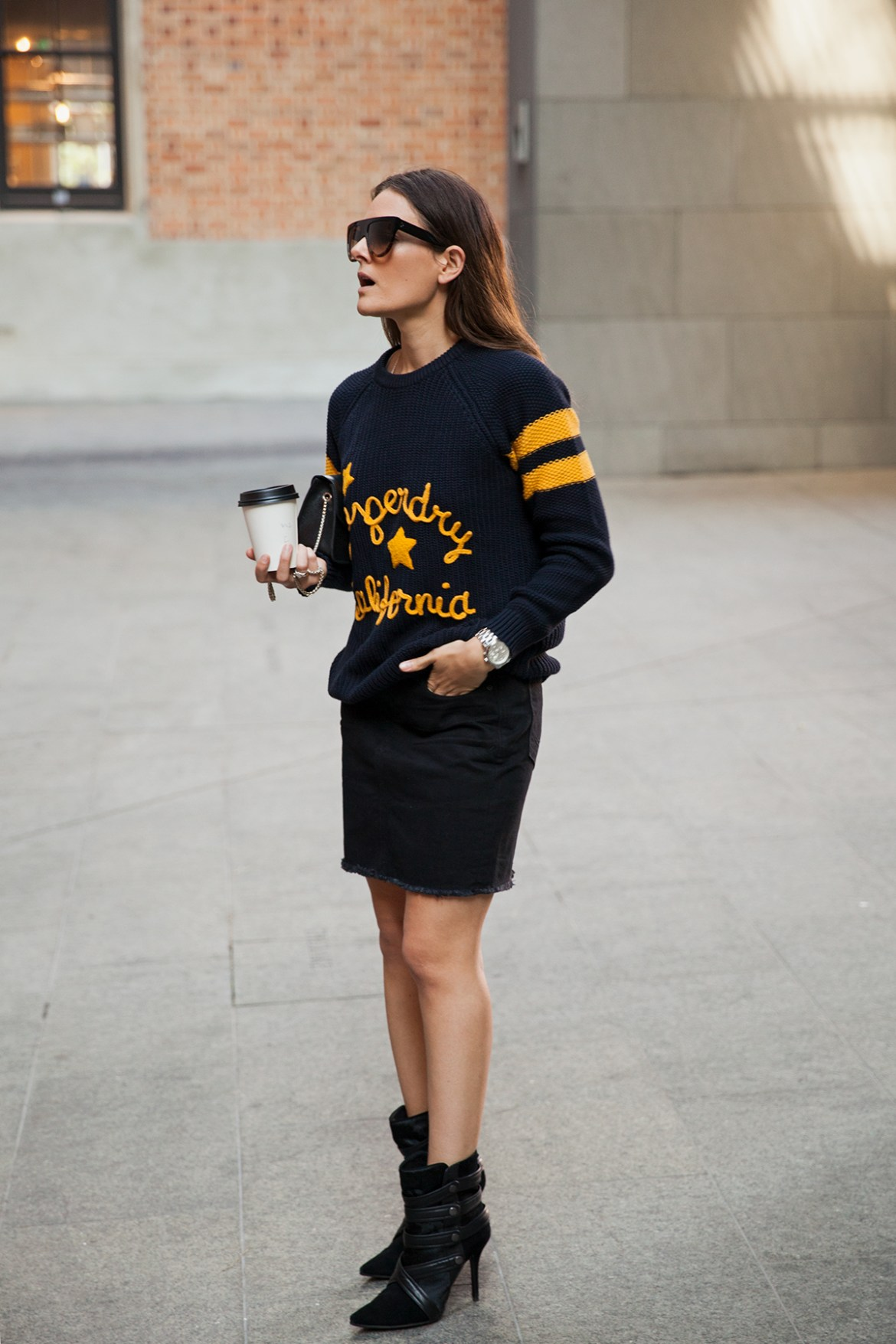Superdry Perth Inspiring Wit varsity sweater knit and denim skirt store now open