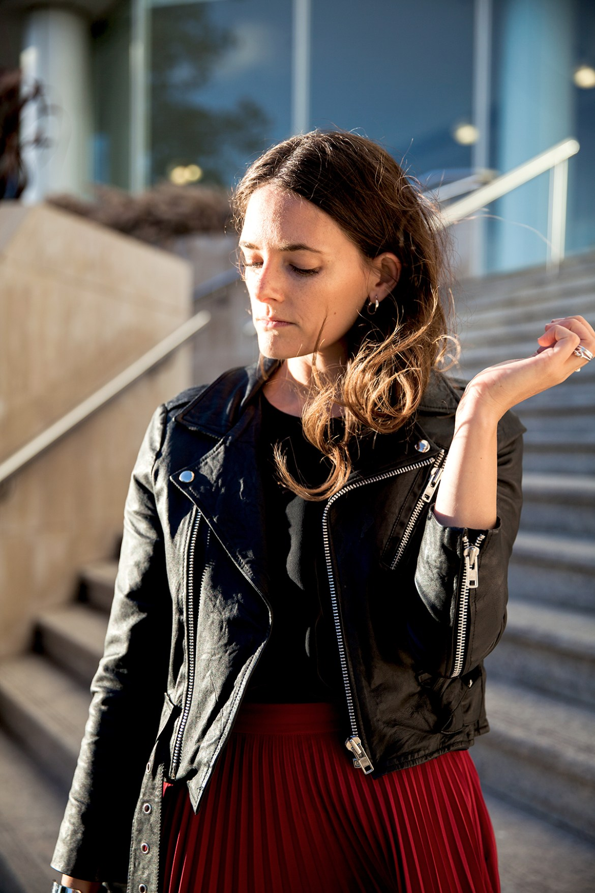 INSPIRING WIT STREET STYLE blog from Perth wearing leather moto jacket