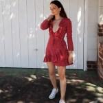 realisation par Alexandra dress in star print on Inspiring Wit Australian fashion blogger Jenelle summer