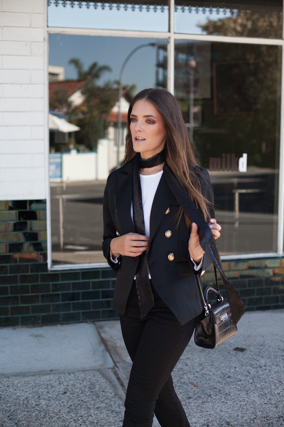 Bohemian Traders double breasted blazer, Inspiring Wit fashion blog