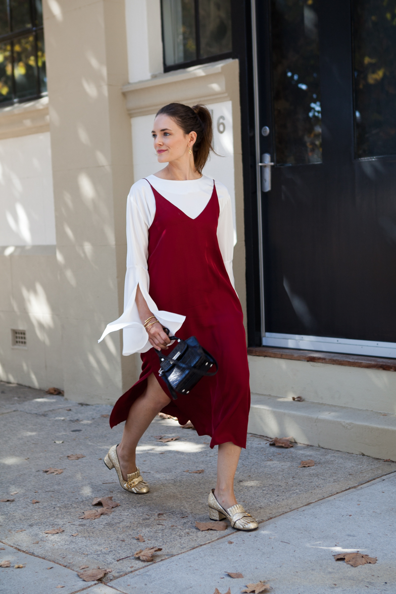 red fashion focus, Grana slip dress worn by Jenelle of Inspiring Wit blog Australian style blogger
