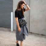 Delphine tweed midi skirt worn by Jenelle of Inspiring Wit