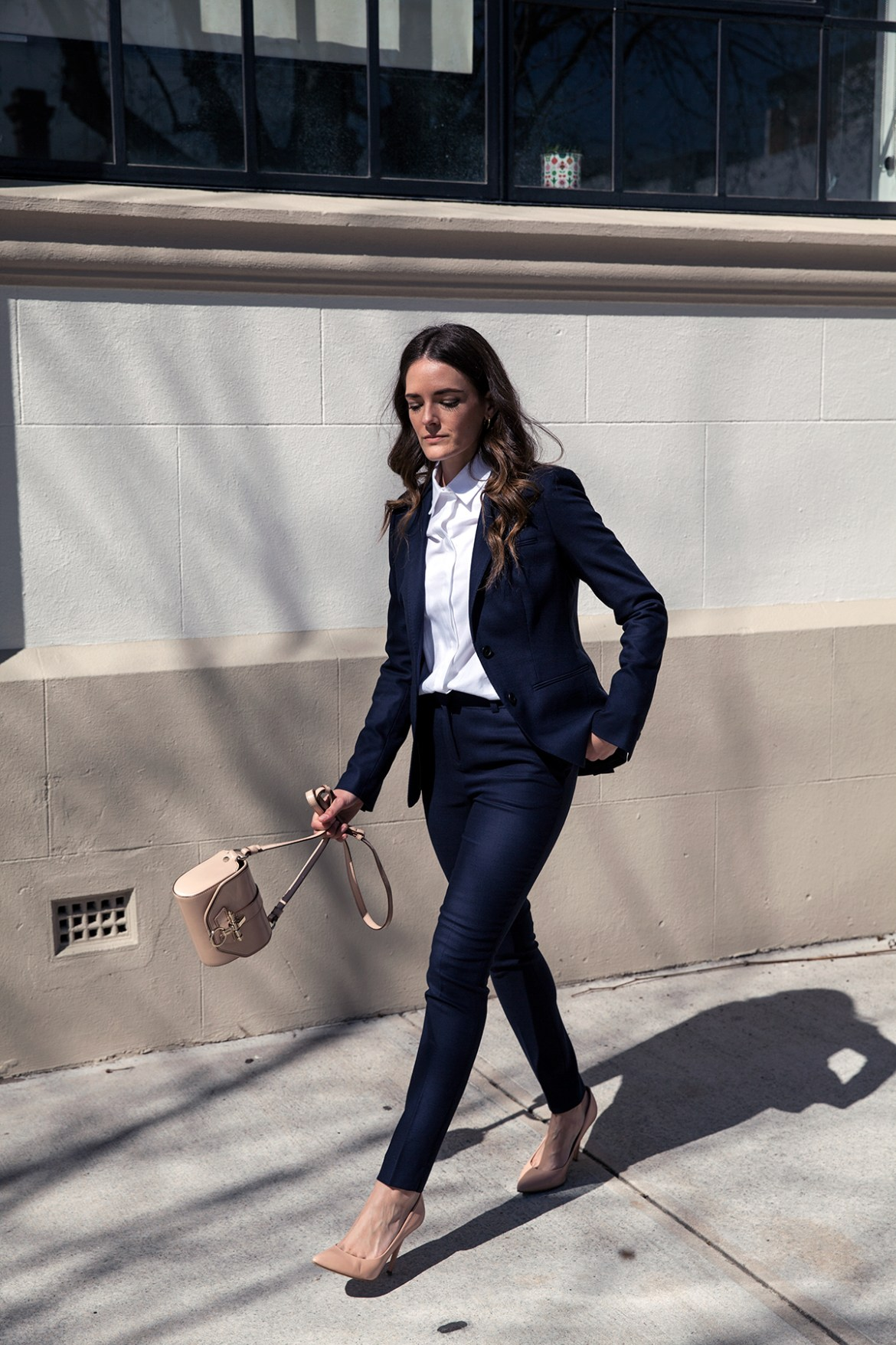 navy suit, 2 ways to wear a navy suit by Inspiring Wit fashion blog