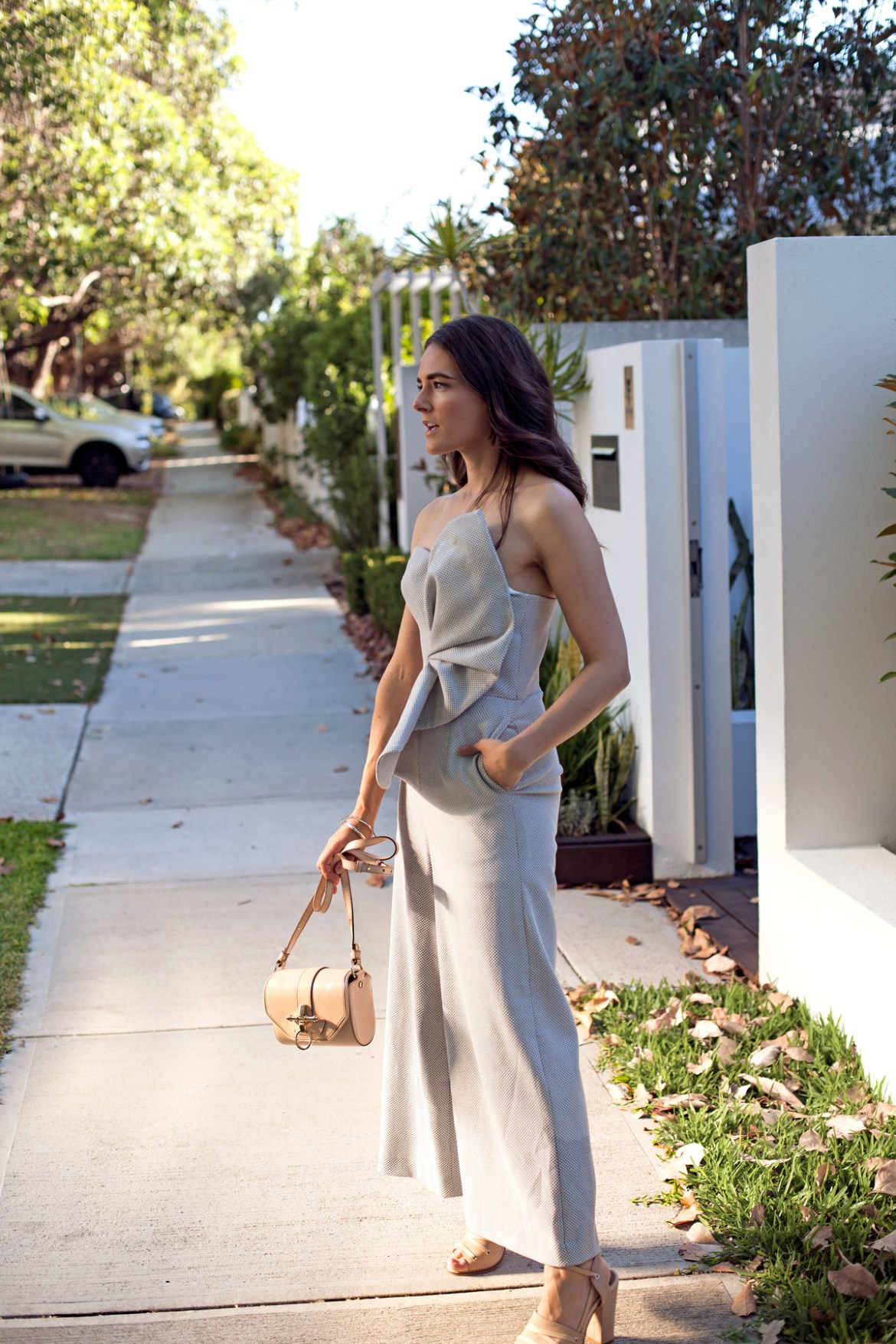 Keepsake the label Jumpsuit from Fashion BNKR, perfect for the holiday season, worn by Inspiring Wit blogger Jenelle Witty