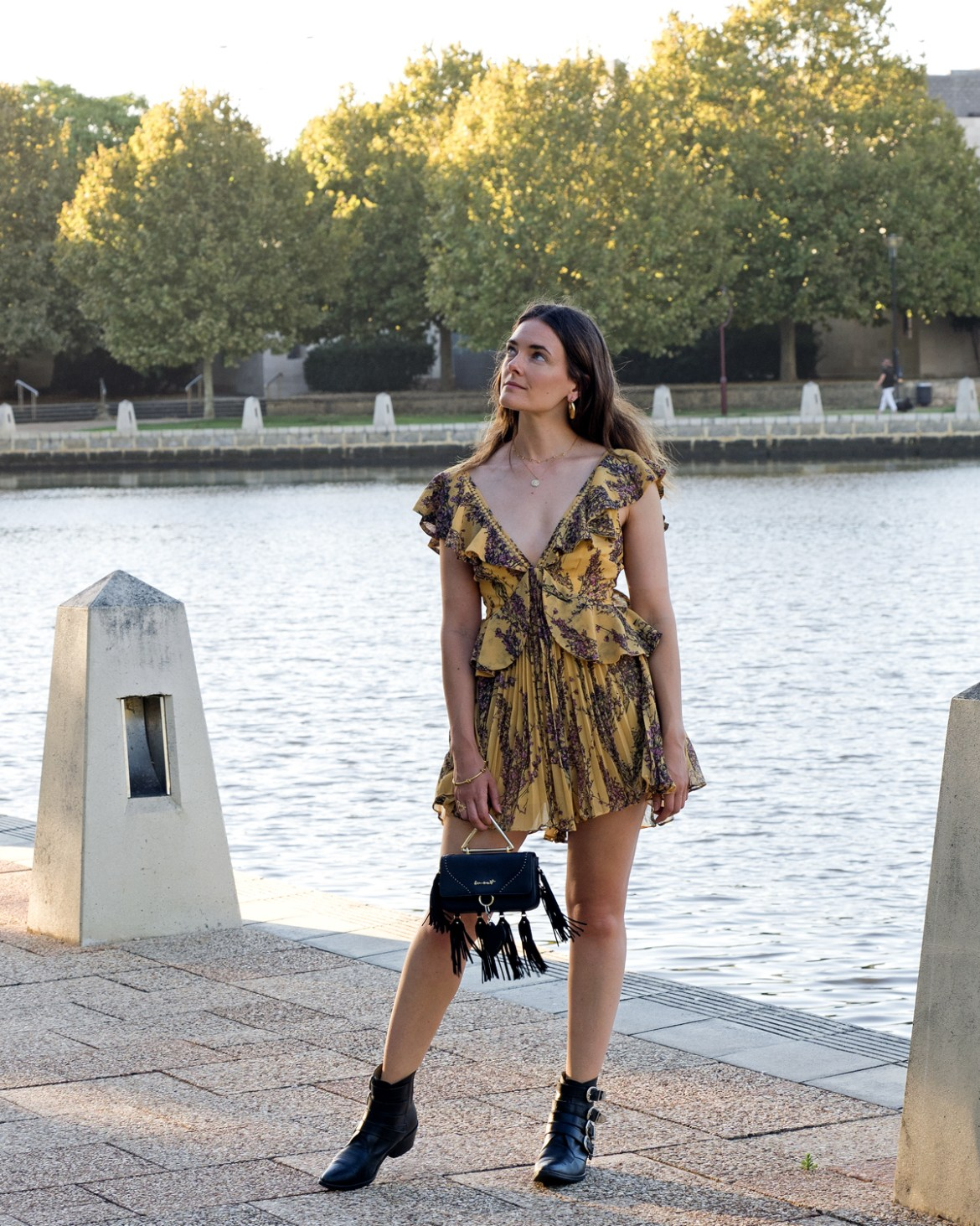 Light Up playsuit in mustard yellow from Keepsake the label worn by fashion blogger Inspiring Wit for 2018 Valentine's Day edit