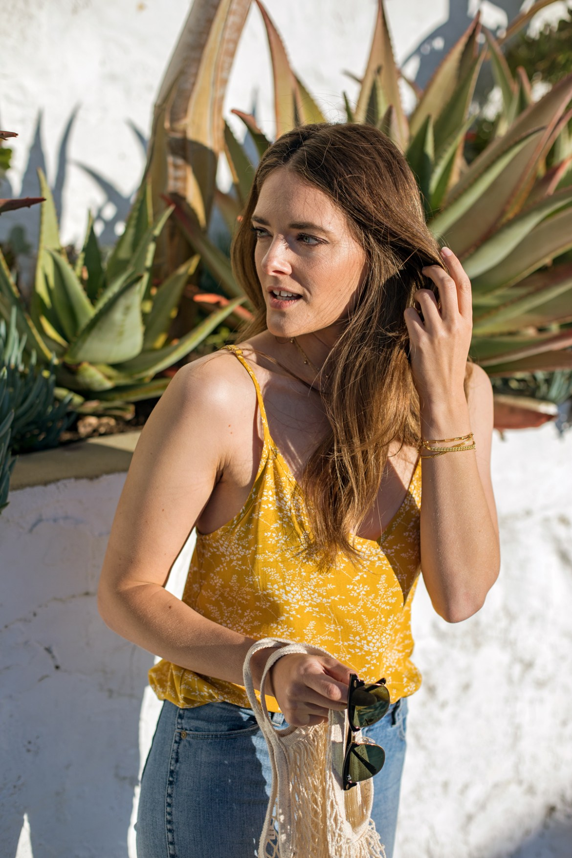 Bohemian Traders for spring 2018 mustard yellow cami top worn by Jenelle Witty from Australian fashion blog Inspiring Wit