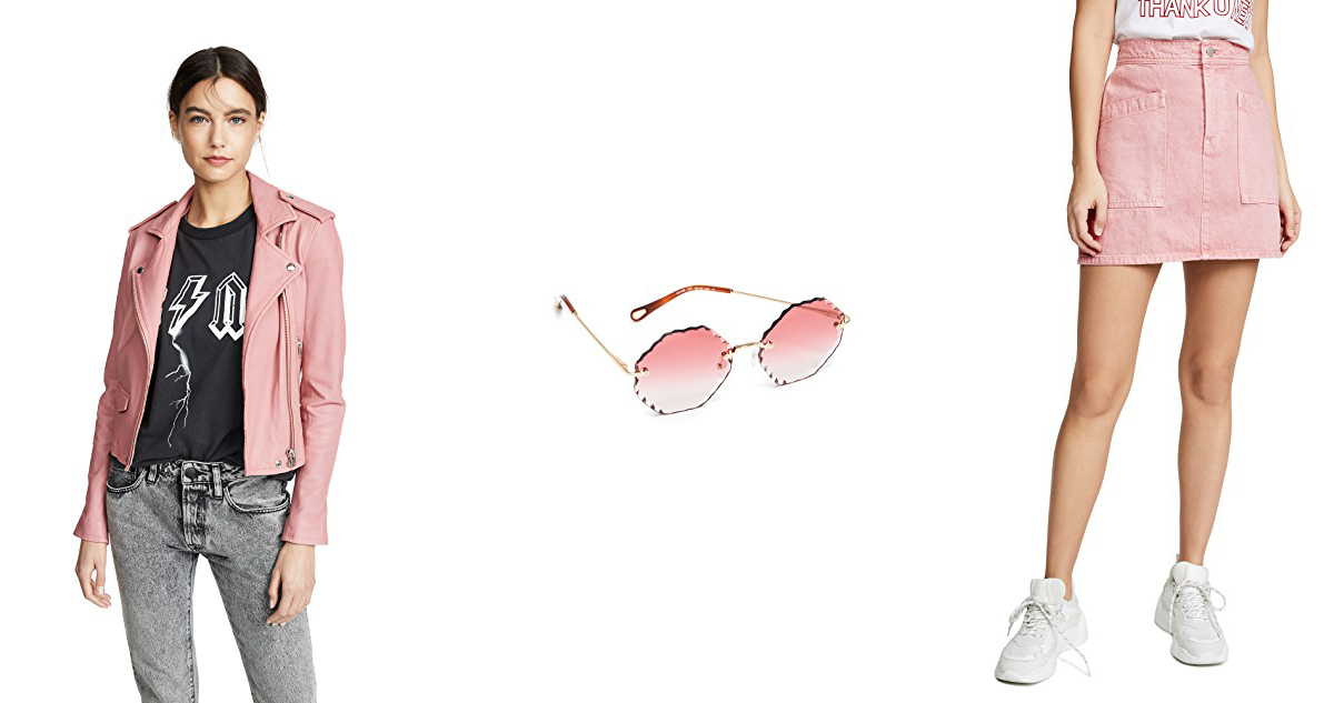 warm tone pink inspiration from the February Shopbop sale