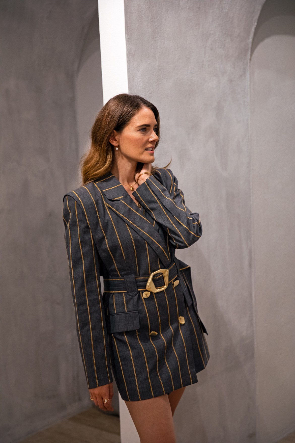 Aje Blazer dress from Autumn 19 collection worn by Inspiring Wit fashion blogger Jenelle