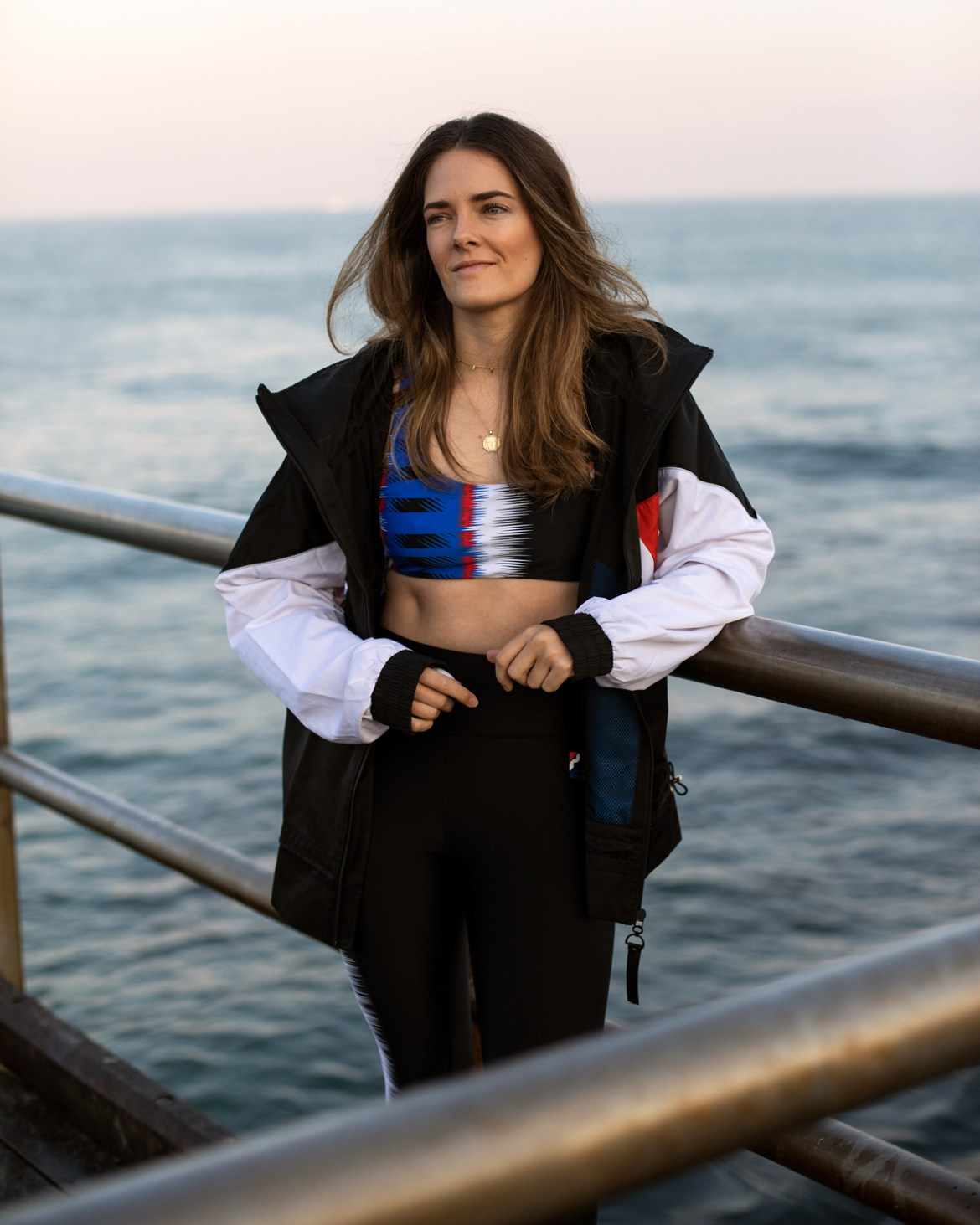 PE Nation activewear outfit with jacket worn by Australian fashion blogger Jenelle Witty from the blog Inspiring Wit