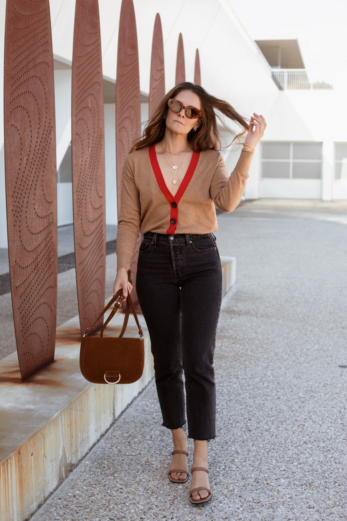 Tan accessories outfit idea for fall