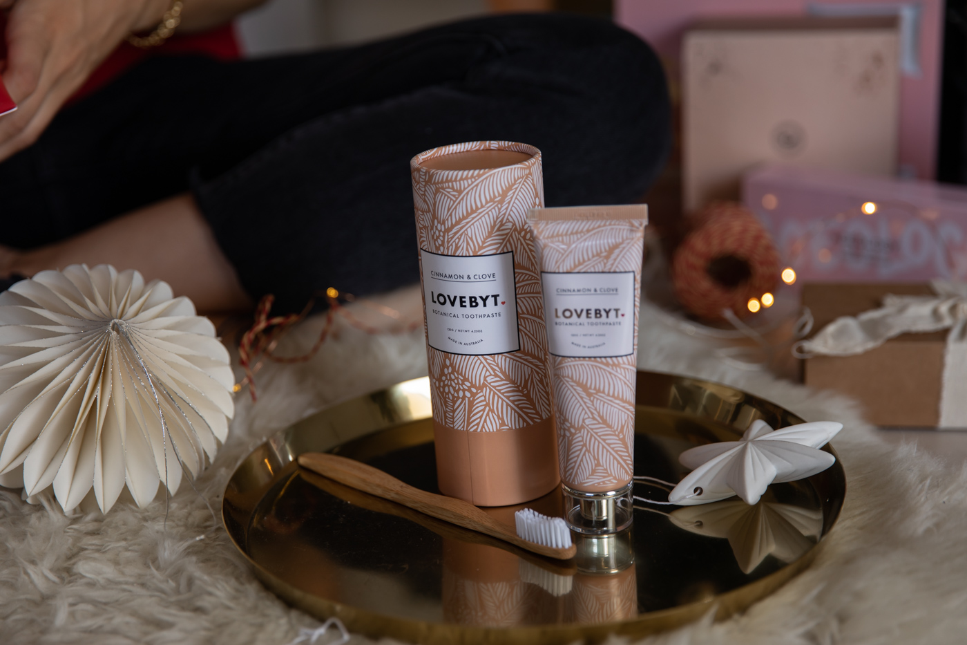 Cinnamon and Clove toothpaste from Love by T Christmas stocking stuffer idea