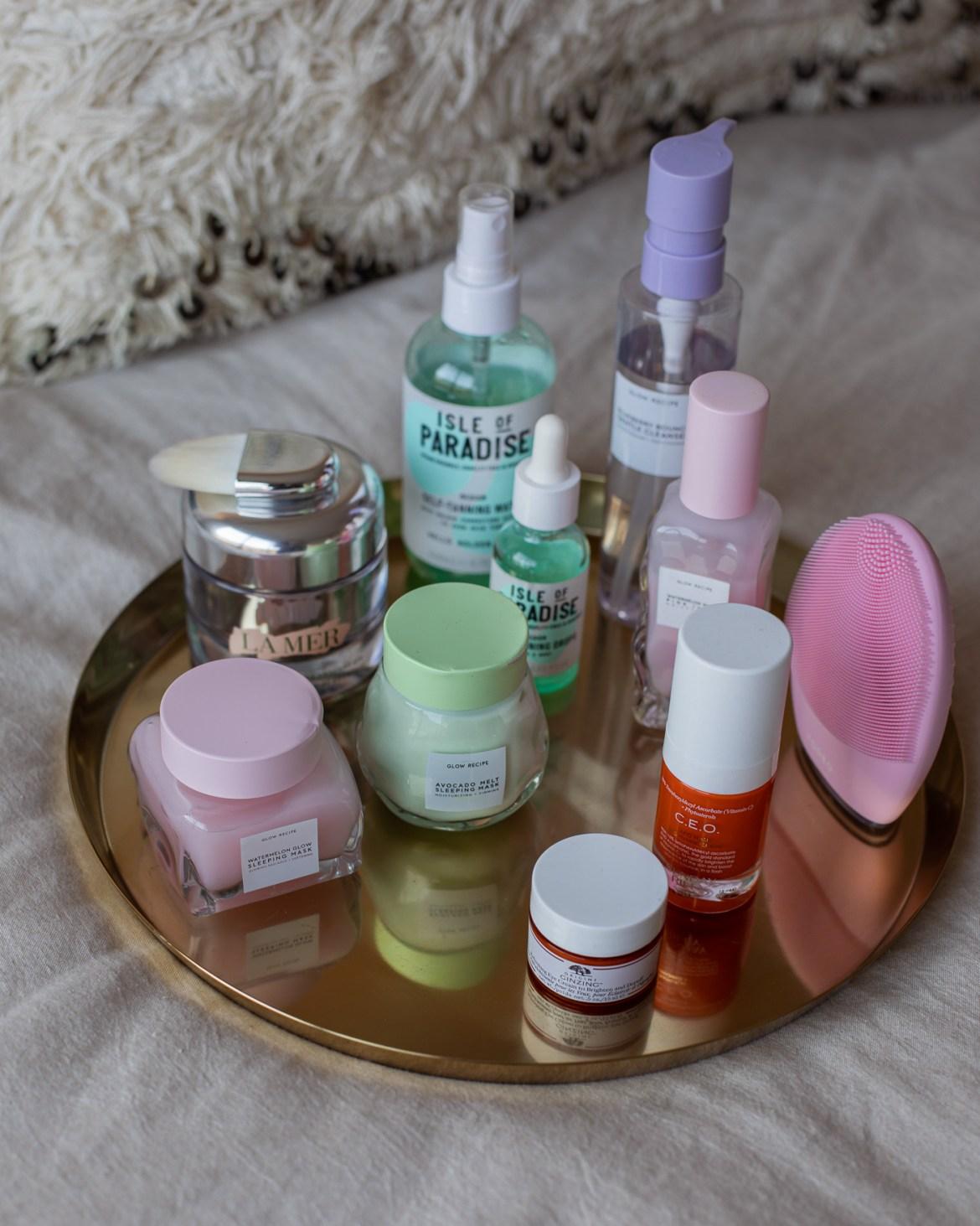 Origins, Glow Recipe, Foreo, Isle of Paradise beauty skincare products